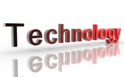 Technology. Digital illustration of technology in 3d on white background vector illustration