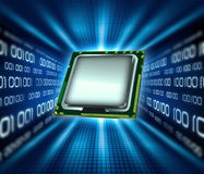 Technology. Abstract background technology,microchip and binary data Royalty Free Stock Images