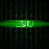 Technology 2010 binary background. Stock Images