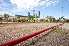 Technology. Gas line to refinery plant Royalty Free Stock Photography
