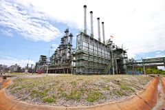 Technology. Gas line to refinery plant Stock Images