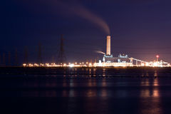 Technology. Power plant of night day Royalty Free Stock Photo