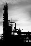 Technology. Petrochemical plant of silhouette image Royalty Free Stock Image