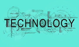 Technology. Text technology with schedules and schemes of scientific researching Royalty Free Illustration