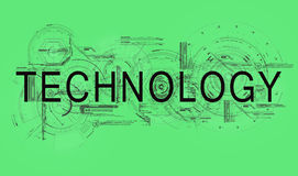 Technology. Text technology with schedules and schemes of scientific researching Stock Photography