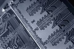Technology. Close up of back side of computer ddr memory royalty free stock photos