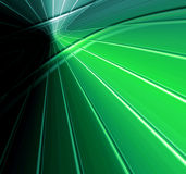 Technology Abstract. Striking technology abstract design in bold green with powerful intersecting horizon connecting lines Royalty Free Stock Photos
