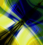 Technology Abstract. Blue and yellow tones background with lights and motion and copy space for a bright technology abstract Stock Image