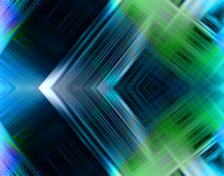 Technology Abstract. Colorful, striking technology abstract design in blue and green with powerful intersecting connecting lines royalty free illustration