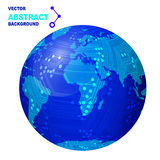 Technology abstract background. The globe with the board Royalty Free Stock Photo