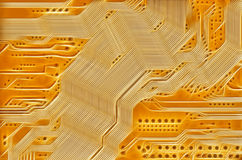 Technology abstract background. Image of the printed circuit - motherboard - technology abstract Stock Photo