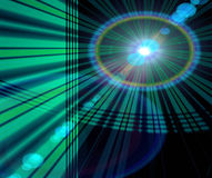 Technology Abstract Background. Background technology abstract satellite design of green and blue and black circles, lasers, lights, and lines royalty free illustration