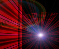 Technology Abstract Background. Satellite theme background technology abstract design with circles, lights, and lines in red and black stock illustration