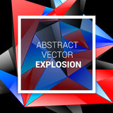 Technology abstract background. Abstract background burst red blue black white. Technology abstract background. Abstract background burst red blue black white stock illustration