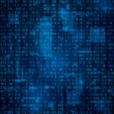 Technology abstract background. Binary code. Encryption and coding data. vector. Illustration Royalty Free Illustration