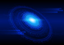 Technology abstract background in blue, hi-tech sci-fi cyberspace theme concept Royalty Free Stock Photo