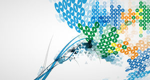 Technology abstract background collection for business solution ideas Royalty Free Stock Photography