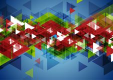Technology abstract background with colorful triangles. Geometric vector design Royalty Free Stock Image