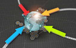 Technology abstract background, concept of global network Royalty Free Stock Image