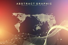 Technology abstract background with connected line and dots. Big data visualization. Artificial Intelligence and Machine. Learning Concept Background vector illustration