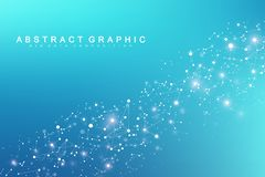 Technology abstract background with connected line and dots. Big data visualization. Perspective backdrop visualization. Analytical networks. Vector vector illustration