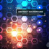 Technology abstract background. Futuristic technological style. Sphere is a mesh vectorial structure. Geometric figures built by a grid. Technology abstract royalty free illustration
