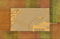 Technology abstract background. Image of the printed circuit - motherboard - abstract technology background Stock Images