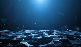 Technology abstract background. Low poly Royalty Free Stock Image