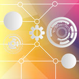 Technology abstract background. Vector illustration Royalty Free Stock Photography
