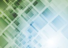 Technology abstract geometric background with squares. Vector illustration Royalty Free Stock Image