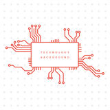 Technology abstract motherboard illustration background Royalty Free Stock Photos