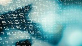 Cyber world big data informations intro vector illustration