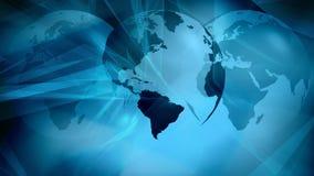 World communication new tech, technology news intro background vector illustration