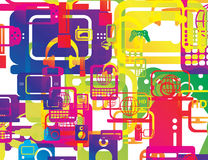 Technology abstract shapes background wallpaper Stock Image