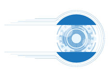 Technology abstract. Vector illustration Abstract futuristic eyeball, high computer technology white and blue color background Royalty Free Stock Photos