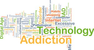 Technology addiction background concept Stock Photos