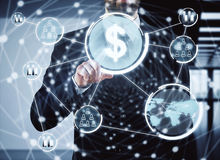 Technology and analytics royalty free stock photo