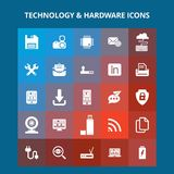 Technology And Hardware Icons Royalty Free Stock Photo