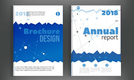 Technology Annual report with connections. Brochure design template vector, Leaflet cover presentation abstract Stock Photo