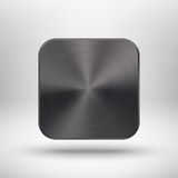 Technology app icon with metal texture for ui Royalty Free Stock Images