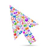 Technology Arrow Cursor Royalty Free Stock Image