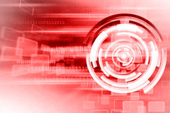 Technology Background. Abstract Red Hot Technology Background Design Stock Image