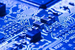 Technology background. Close-up. Electronics component Stock Photo