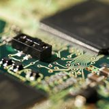 Technology background. Close-up. Electronics component Stock Image