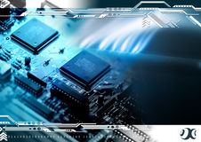 Technology background. With computer components Royalty Free Stock Photos