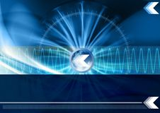 Technology background. Abstract technology background with waves Royalty Free Stock Photos