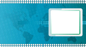 Technology background. Illustrator computer technology background with world map Royalty Free Stock Photo