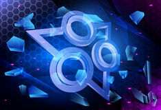 Technology Background. Abstract Vector Hi-Tech Background Royalty Free Stock Image