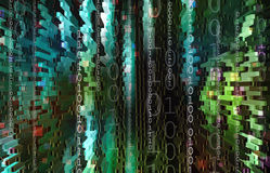 Technology background with binary code Royalty Free Stock Images