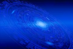 Technology Background with blue colors and different shapes royalty free stock photos